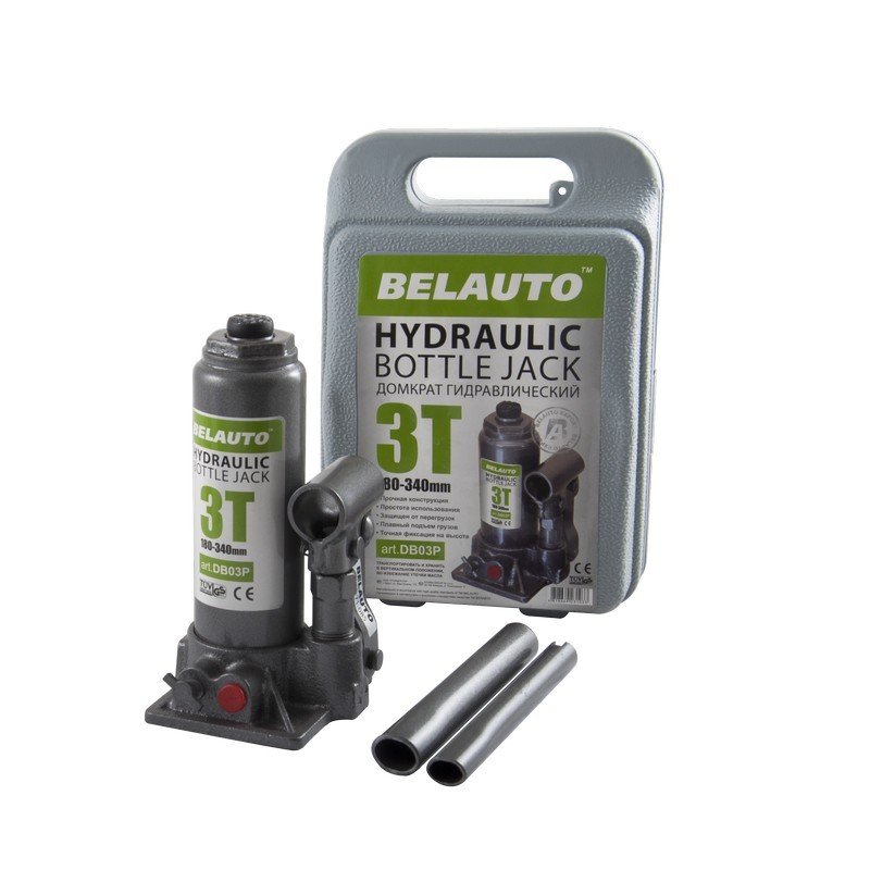 Домкрат бутылочный BELAUTO DB03P 3т 180-340мм