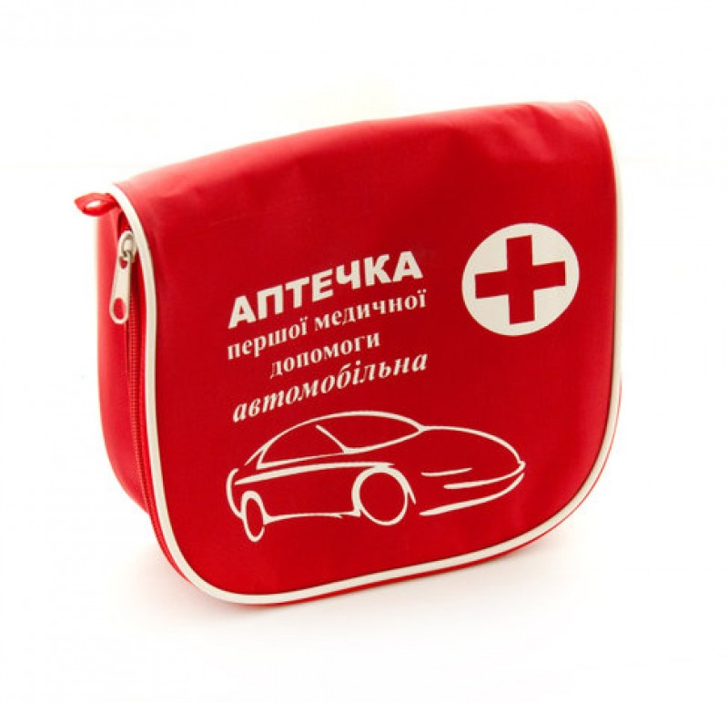 Аптечка автомобильная красн. сумочка