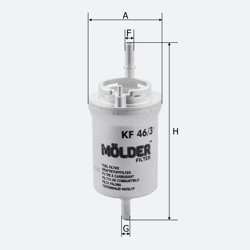 Топливный фильтр MOLDER без клапана аналог WF8317/KL156/3/WK692 (KF46/3)