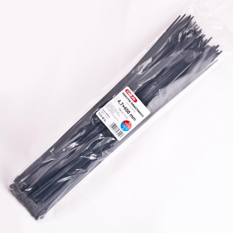 Хомуты пластиковые CARLIFE 4,8x450 мм Черные