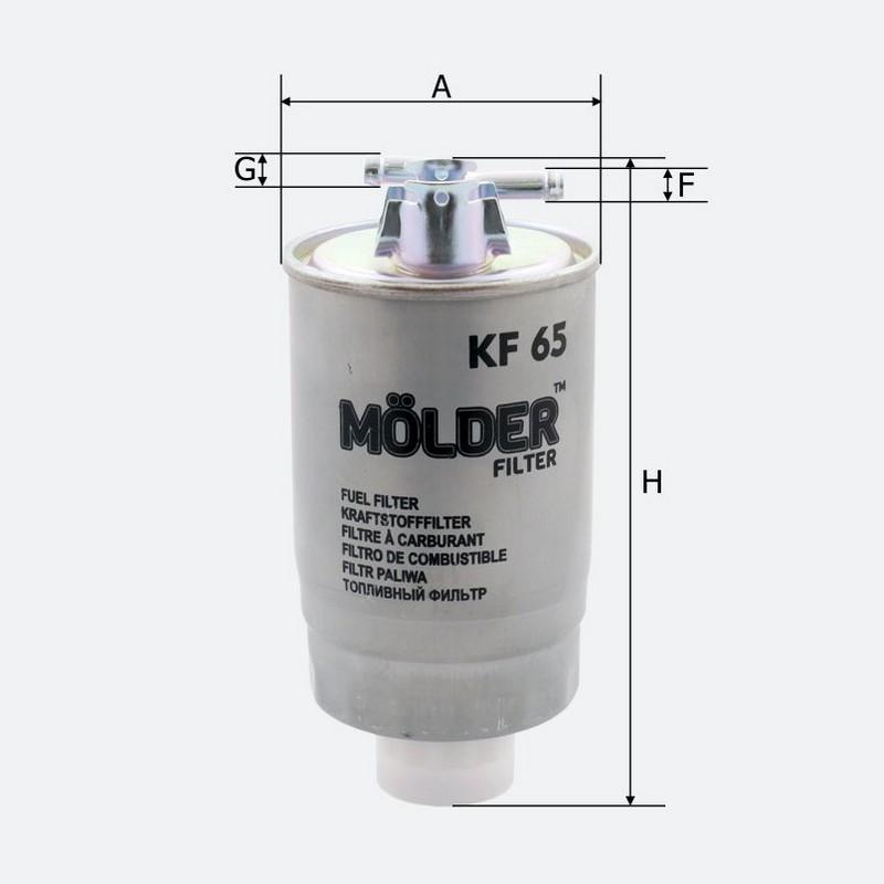 Топливный фильтр MOLDER аналог WF8045/KL75/WK8424 (KF65)