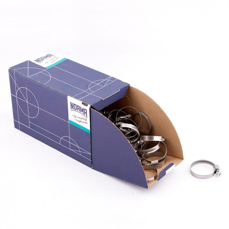 Хомут оцинкованный Norma (W1) 30-45 мм