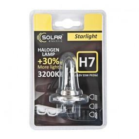 Галогеновая лампа Solar H7 12V 55W PX26d Starlight +30% (1207B1)