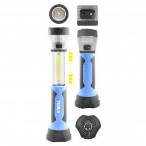 Лампа инсп. Brevia LED  3W COB+1W LED+8LED телескоп, 300lm, 2000mAh, адаптер AC 220