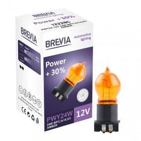 Brevia PWY24W 12V 24W WP3,3x14,5/4 AMBER Power +30% CP