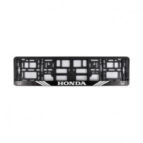 Рамка номера CarLife для Honda черный пластик (NH092)