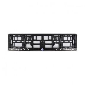 Рамка номера CarLife для Volkswagen черный пластик (NH202)