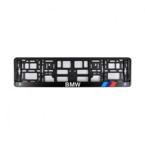 Рамка номера CarLife для BMW черный пластик (NH242)