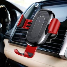 Автодержатель беспроводное зарядное устройство Baseus Gravity Car Mount (Air Outlet Version) Красный (WXYL-09)