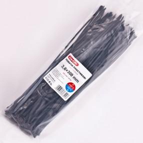 Хомуты пластиковые CARLIFE 3,6x300 мм Черные