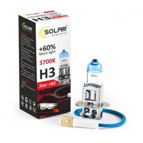 Галогеновая лампа Solar H3 12V 55W PK22s Starlight +60% (1233)