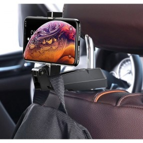 Автодержатель для телефона и вешалка для вещей 2в1 Baseus на подголовник (SUHZ-A11)