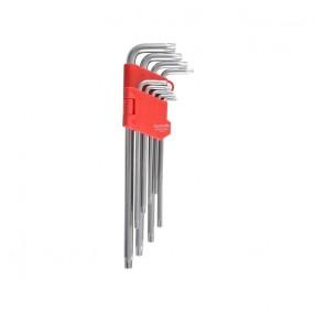 Набор Г-образных ключей CARLIFE TORX длинный 9 шт (WR 2113)
