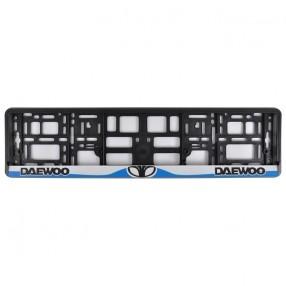 Рамка номера CarLife для Daewoo черный пластик (NH061)