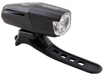 Велосипедна фара Grey's LED, 7 реж. роботи, IPX4,алюм корпус,microUSD, кріпл. на кермо (20/100шт/уп)