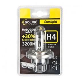 Галогеновая лампа Solar H4 12V 60/55W P43t-38 Starlight +30% (1204B1)