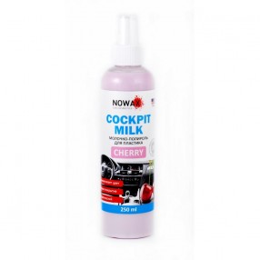 Молочко-полироль для пластика NOWAX NX25227 Black Cockpit Milk Cherry 250мл