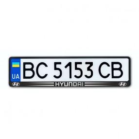 Рамка номера CarLife для Hyundai черный пластик (NH103)