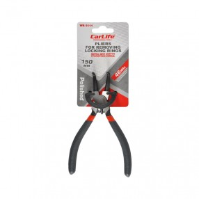 Щипцы для снятия стопорных колец Carlife 150 мм для cжатия выгнутые (WR5111)