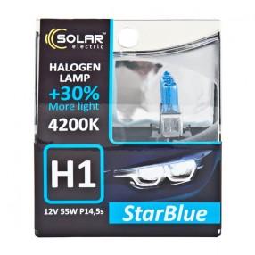 Галогеновая лампа Solar H1 12V 55W P14,5s StarBlue 4200K (1241S2)