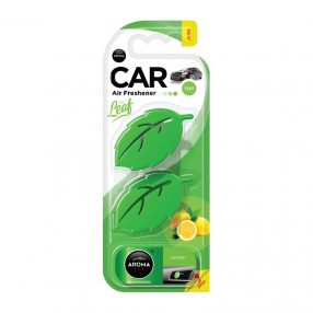 Ароматизатор на дефлектор Aroma Car Leaf 3D Mini Lemon Лимон (83134)