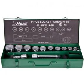 Набор инструментов Hans с торцевыми головками 22-50 мм 14 предметов с квадратом 3/4 (6614M)