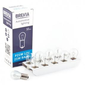 Галогеновая лампа Brevia PR21/5W 12V BAW15d RED blister 2шт.12327B2