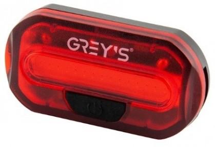 Велосипедний задній ліхтар Grey's 15хLEDs, 2XCR2032 в комл., вологозах. корп, 2 реж., кр(20/100ш/уп)