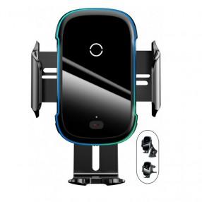 Автодержатель на панель или дефлектор с беспроводной зарядкой смартфона Baseus Light Electric 15W (WXHW03-01)