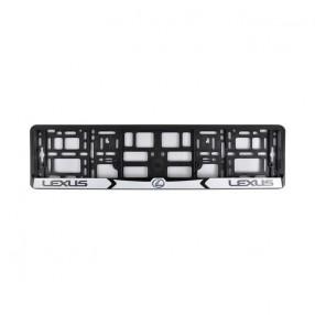 Рамка номера CarLife для Lexus черный пластик (NH031)