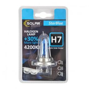 Галогеновая лампа Solar H7 12V 55W PX26d StarBlue 4200K (1247B1)