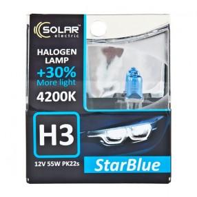 Галогеновая лампа Solar H3 12V 55W PK22s StarBlue 4200K (1243S2)