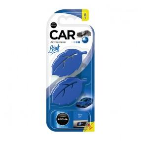 Ароматизатор на дефлектор Aroma Car Leaf 3D Mini New Car Новая машина (83135)