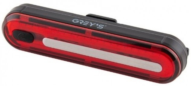 Велосипедний задній ліхтар Grey's 50xLEDs, 8 реж., IPX4, microUSB, кріпл (20/100шт/уп)