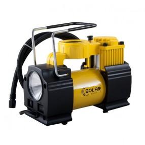 Автомобильный компрессор Solar однопоршневой 40 л/мин с фонариком AR210