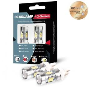 Светодиодные автолампы CARLAMP 4G-Series W21W-T20 RED (4G21/7440Red)