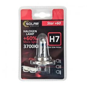 Галогеновая лампа Solar H7 12V 55W PX26d Starlight +60% (1237B1)