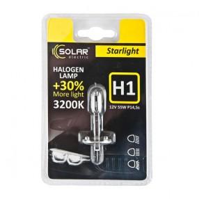 Галогеновая лампа Solar H1 12V 55W P14,5s Starlight +30% (1201B1)