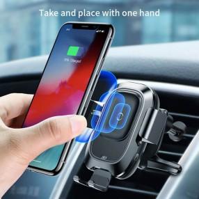 Автодержатель беспроводное зарядное устройство Baseus Smart Vehicle Bracket Черный (20780)