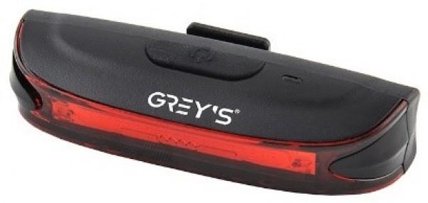 Велосипедний задній ліхтар Grey's 20xLEDs,робота жл 6,5год, 6 реж, IPX4, microUSB, кр (20/100шт/уп)