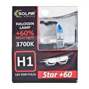 Галогеновая лампа Solar H1 12V 55W P14,5s Starlight +60% (1231S2)