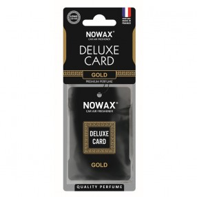 Ароматизатор целлюлозный 6 г Nowax Delux Card Gold (NX07731)