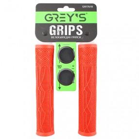 Силіконові гріпси керма 2 шт, 165 мм, колір: червоний, заглушки керма 2 шт (100шт/ящ)