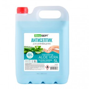 Антисептик для дезинфекции бактерицидный 5 л Alma Sept с Алое Вера (536110)