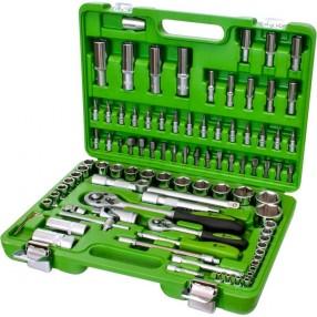 Набор инструментов Alloid квадраты 1/4 и 1/2 дюйма 94 предмета с 12 гранными головками НГ-4094П-12