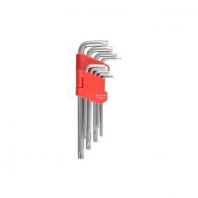 Набор Г-образных ключей CARLIFE TORX средний 9 шт (WR 2112)