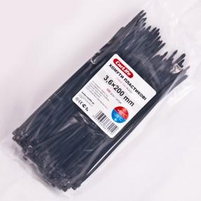 Хомуты пластиковые CARLIFE 3,6x200 мм Черные