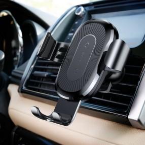 Автодержатель беспроводное зарядное устройство Baseus Gravity Car Mount (Air Outlet Version) Черный (WXYL-01)