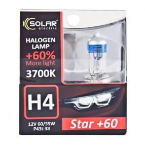 Галогеновая лампа Solar H4 12V 60/55W P43t-38 Starlight +60% (1234S2)