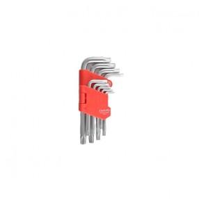 Набор Г-образных ключей CARLIFE TORX короткий 9 шт (WR 2111)